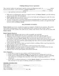 contract for weddingcreative wedding planner about us perning to makeup artist contract template 6729