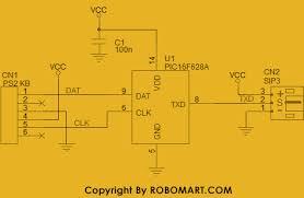 keyboard circuit diagram puters keyboards schematic diagrams astec pc keyboard decoder using pic microcontrollers robomart keyboard circuit diagram puters keyboards schematic diagrams astec