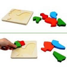 hot wooden blocks kid child cartoon animal design puzzle game educational toy