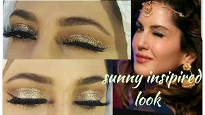 sunny leone insipired makeup look glittery eye makeup for begginers hindi urdu
