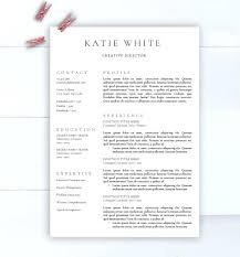 Minimalist Resume Template Creative Free Printable Resume Templates ...