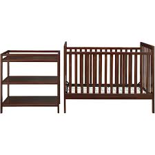 baby relax ryder 2 in 1 fixed side crib with bonus changing table espresso baby nursery furniture relax emma crib
