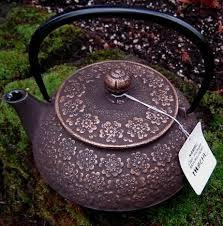 Japanese Tetsubin <b>Cast</b> Iron Teapots - Bronze Brown <b>Sakura</b> (Plum ...
