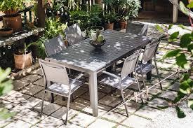 outdoor dining table and chairs. A Contemporary Aluminum Set: Cambridge Nova 7-Piece Rectangular Outdoor  Dining Set Outdoor Dining Table And Chairs