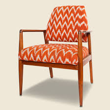 Wooden chair side Brown Wood Stag Provisions The Hillside Upholstered Wooden Chair Redwhite Ikat
