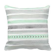 green and gray pillows. Plain And Decorative Pillow Cover Mint Green Gray Watercolour Stripes Arrows Accent  Pillows For Sofa Intended And