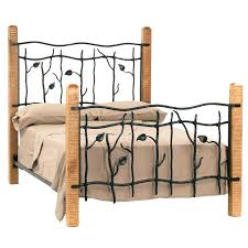 wood and iron bedroom furniture. Wood And Wrought Iron Bed Queen Size White Rod Frame . Headboard Bedroom Furniture D