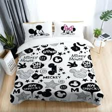 lovely mickey duvet cover black and white mickey mouse printed bedding sets twin full queen