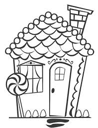 Small Picture Printable Coloring Pages Gingerbread House Coloring Pages