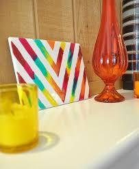 Craft Decor Tiles Rainbow Glass Stained Chevron Art Tile DIY Home Decor Pinterest 33