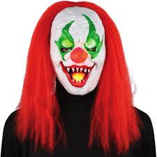 Halloween Mask Light Up Eyes Light Up Eyes Sinister Clown Mask Halloween Accessory Walmart Com