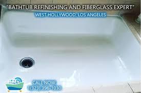 west hollywood bathtub refinishing reglazing