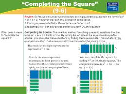 2 completing the square