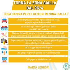 Marta Leonori - 🟡 DAL 26/4 NUOVE REGOLE PER REGIONI IN ZONA GIALLA  Continuiamo a seguire tutte le misure preventive, che ormai da più di un  anno sono entrate nella nostra quotidianità: