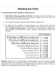 Eye Strength Chart Reading Eye Chart Free Download
