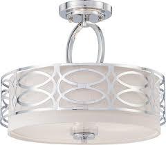 com nuvo lighting 60 4629 three light semi flush mount home improvement