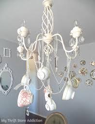 diy whimsical teacup chandelier mythriftaddiction blo com create a one of a kind chandelier