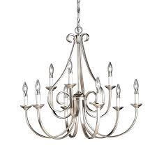 lighting 9 light chandelier view larger portfolio lyndsay brushed nickel
