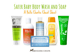 Safer Baby Body Wash and Soap Cheat Sheet