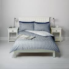 john lewis darcy gingham bedding single duvet cover and 2x pillowcase