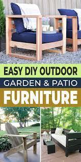 easy diy outdoor patio furniture plans
