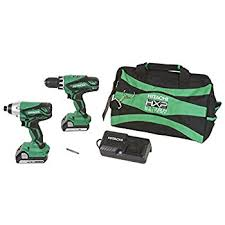 hitachi drill set. hitachi kc18dgl 18-volt cordless lithium ion driver drill and impact combo kit ( set t