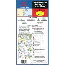 Maptech Waterproof Charts Maine Maptech Folding Waterproof Chart Boston Harbor To York Maine
