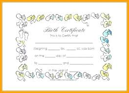 Birth Certificate Templates Sample Free Documents In Word