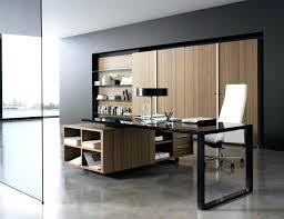 modern glass office desk. Stunning Office Furniture Design With Black Glass Countertop Modern Home Contemporary Executive Desk D