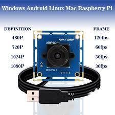 IR geçiş 1080p Full Hd MJPEG 30fps/60fps/120fps yüksek hızlı CMOS OV2710  Mini Webcam Usb kamera modülü 850nm ir geçiş filtresi|Surveillance Cameras