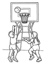 Basketbal Kleurplaat Sport Kleurplaat Animaatjesnl