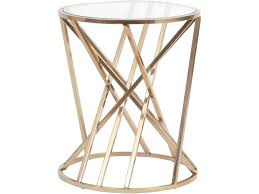 bronze bars side table metal struts glass regarding tables designs 14