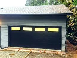 Flush Panel Garage Door Black Doors Modern Home Depot Pictures
