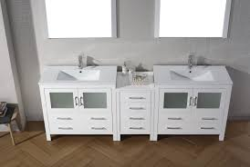 double vanity cabinet.  Double Virtu USA Dior 90 Double Bathroom Vanity Set In White To Cabinet E