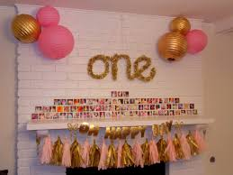 Gold Birthday Decorations Shelbys First Birthday Party Gold And Pink And Glitter