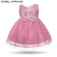 Cielarko Baby Girl Dress Lace Princess Party Christening