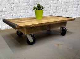 photo of coffee table with wheels vintage coffee table with wheels