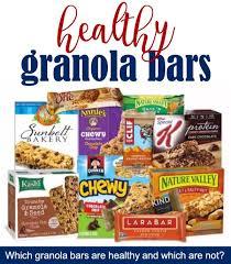 list of healthy granola bars