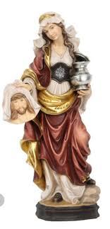 Seltene Produkte Statue Santa Veronica CM 20 Geschnitzt IN Holz Der IN  Gröden Dekoriert Hand Produktion nach der Bestellung  -www.saidevelopersgroup.com