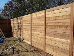 horizontal wood fence.  Fence Perfect Horizontal Wood Fence Design With