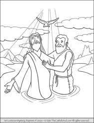 Coloring Pages Jesus Baptism Amatcardco