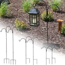 garden hooks. Image Is Loading Sunnydaze-Double-Shepherd-Hooks-Sets-of-2-Garden- Garden Hooks