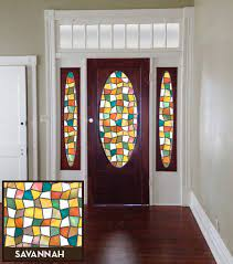 how to cover windows in front doors