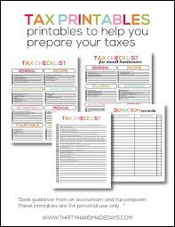 tax preparation checklist excel printable tax information for your budget binder binder