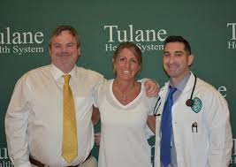 garden park medical center er physician dr mike wilson left and tulane health system stroke expert dr justin rian right re connect with former
