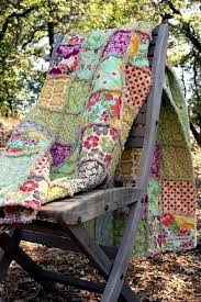 12 best primitive bedding and quilts images on Pinterest | DIY ... & Meadowsweet 2 Large Reversible Rag Quilt Throw Size Adamdwight.com