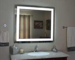 large size wall mounted lighted mirror modern finishing sample square shape lighting lights design affordable concept best decor vanity makeup with folding