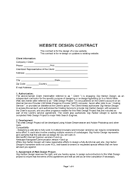 Design Contract Template Pdf Website Contract Template 2 Free Templates In Pdf Word
