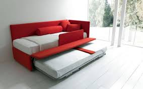 red and white hideabed