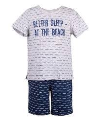 <b>Пижама для</b> мальчика <b>Button Blue</b> (футболка и шорты), серая ...
